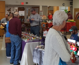Crafters in Fellowship Hall
